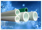 Polypropylene White Plastic Water Pipe , Glass Fiber Insulation Ppr Plastic Pipe