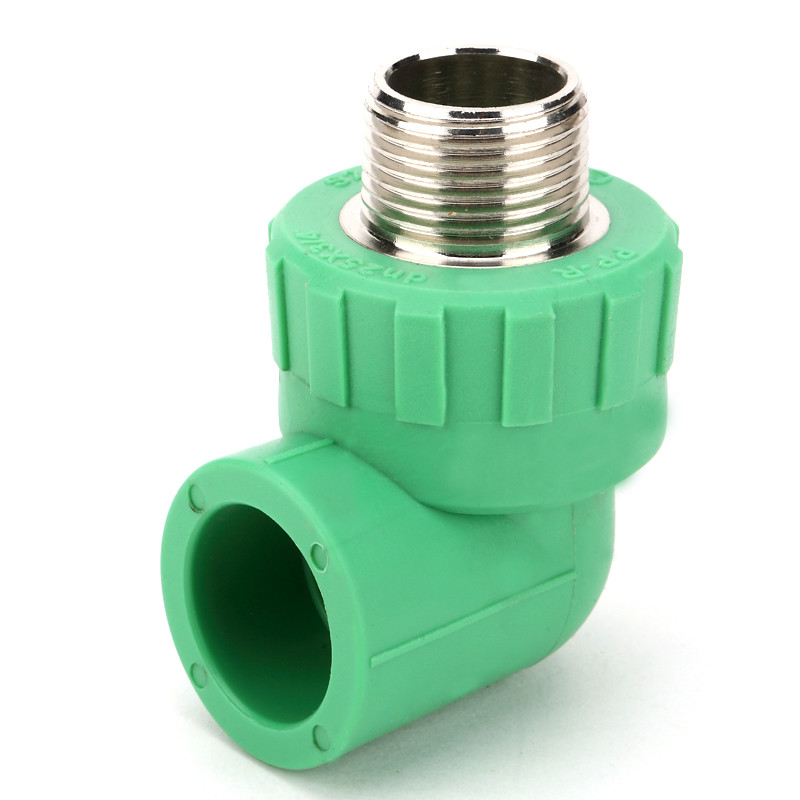Flexible 90° Ppr Pipe Fittings , Customized Color Male Threaded Elbow Iso9001